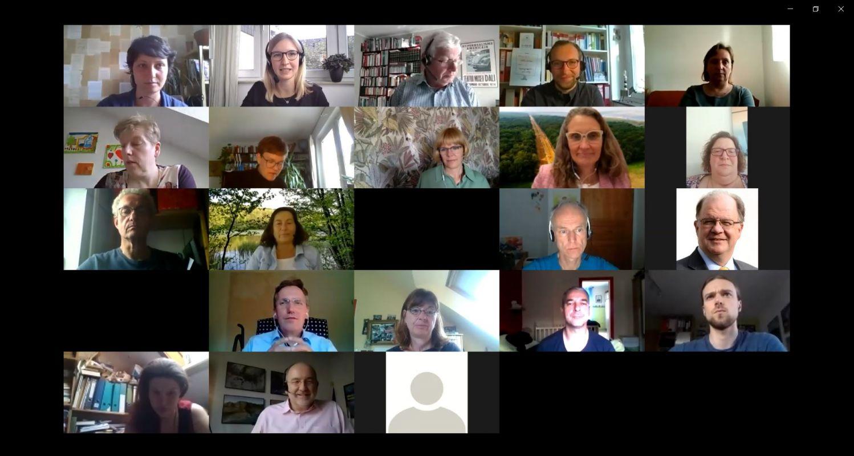 Videobilder der Teilnehmenden