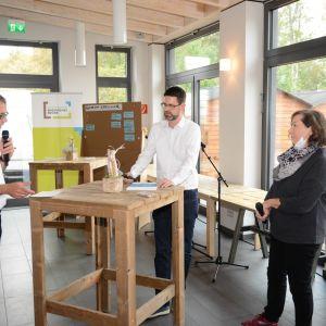Moderation von zebralog und VertreterInnen von der Zukunftsagentur bei der Moderation der Revier-Werkstatt